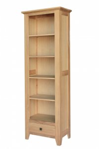 Avignon Solid Oak Bookcase Slim Tall