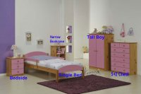 Maximus Pink Pine Bedside 3 Drawer