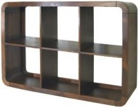 Dark Wood Cube Unit 6 Shelf