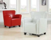 Winston Tub Chair - Red Leather