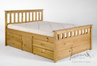 Ferrara 4ft 6in Antique Pine Bed (Storage One Side)