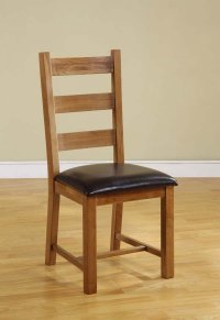 Chateau Oak Ladder Back Dining Chair (Pair)