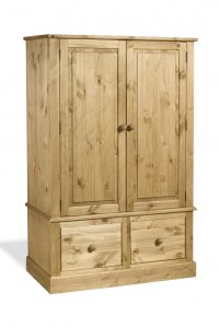 Cotswold 2 Door 2 Drawer Wide Wardrobe