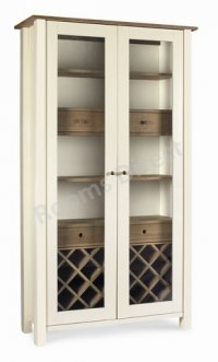 Coniston Two Tone Display Cabinet With Wine Rack