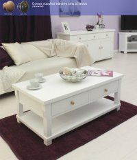 Hampton Painted Four Drawer Coffee Table