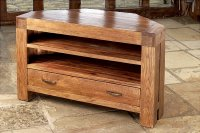 Santana Reclaimed Oak Corner TV Cabinet