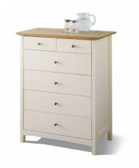 Alaska Painted Oak Chest Of Drawers 4+2 Drawer