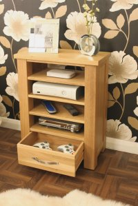 Ashton Oak Home Entertainment Cabinet