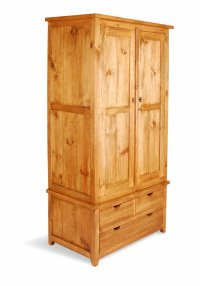 Aston Pine Wardrobe & 3 Drawers