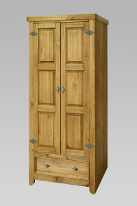 Amalfi 2 Door 1 Drawer Wardrobe