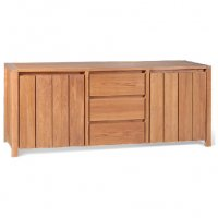 Reclaimed Teak - Sideboard 3 Drawer 2 Door