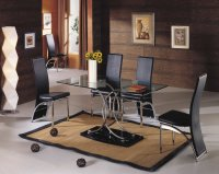 Nimes Glass Dining Table - Clear - Plus 6 x RD-501 Chairs