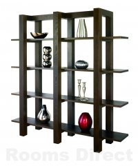 Dark Wood Shelf Units
