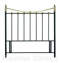 Ancona 135cm (Double) Matt Black / Antique Brass Headboard