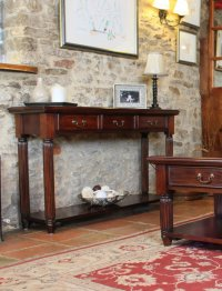 Rochester Mahogany Console / Hall Table (With Drawers)