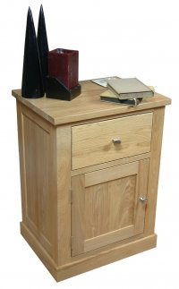 Mobel Oak 1 Door 1 Drawer Lamp Table
