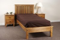 Avignon Solid Oak Low Footboard Single Bed