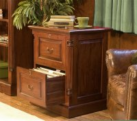 Rochester Mahogany Two Drawer Filing Cabinet