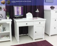 Hampton Painted Single Pedestal Computer Desk