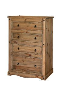 Corona Mexican Pine 4 Drawer Chest