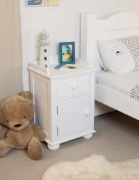 Nutkin Bedside Cabinet One Door One Drawer