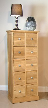 Mobel Oak Multi-Drawer Storage Chest