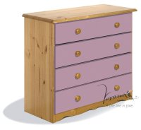 Verona Pink Pine Chest 4 Drawer