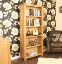 Ashton Oak Bookcase Large Open