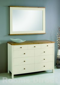 Atlantis Painted Two Tone 6+3 Drawer Chest
