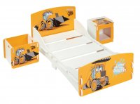 JCB Room In A Box- Bed - Bedside - Toy Box