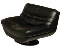 Carmen Leather Armchair Single Seat Black
