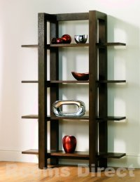 Lyon Walnut Oak Open Shelf Unit
