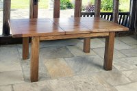 Santana Reclaimed Oak Extending Dining Table Small
