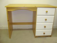 Verona White Pine Single Pedestal Dressing Table
