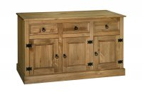 Santa Fe Antique Pine 3 Door 3 Drawer Sideboard