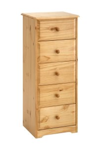 Balmoral Pine 5 Drawer Narrow Chest