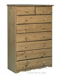 Verona Antique Pine Chest 6+2 Drawer
