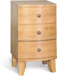 Stretton Natural Oak 3 Drawer Bedside