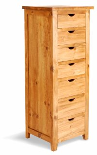 Aston Pine 7 Drawer Tall Chest