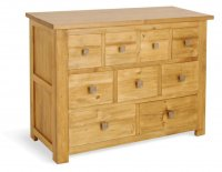Broxton Pine 9 Drawer Chest