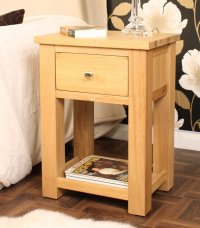 Ashton Oak Lamp Table One Drawer