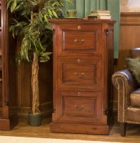 Rochester Mahogany Three Drawer Filing Cabinet