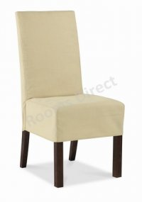 Jafar Mango Loose Dining Chair Cover - Cream (Pair)