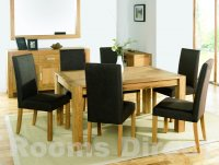 Lyon Oak 110cm End Extension Dining Table (Table Only)