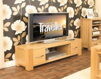 Ashton Oak Widescreen Television Cabinet