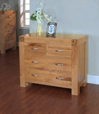 Santana Blonde Oak Chest of Drawers 2 over 2