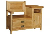 Provence Oak Telephone Bench 1 Door 1 Drawer
