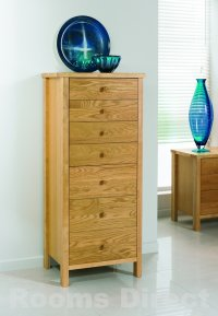Atlantis Natural Oak 7 Drawer Tall Chest