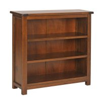 Boston Dark Pine Bookcase Low