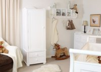 Nutkin Childrens Wardrobe Single With Drawers